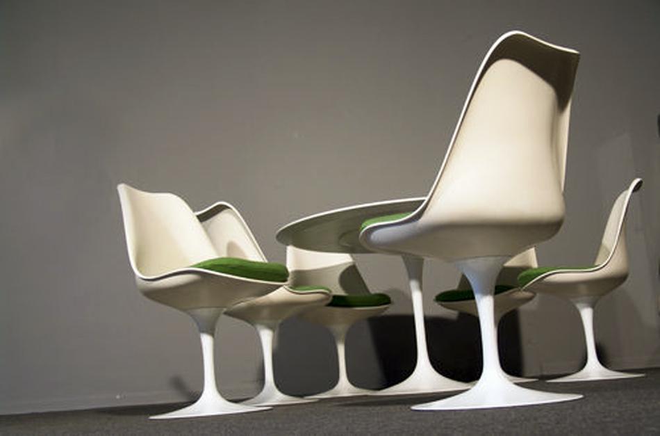 Tulip Chair _Sidechair_Model_151_by Eero Saarinen for Knoll International_1956_1957_KVADRAT_Hallingdal_green_grün_Schurwolle_wool_©_Die_GestaltungsWerkstatt_1